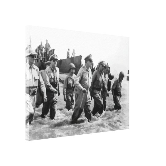 General Douglas MacArthur Returns Canvas Print