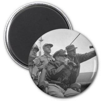 General Douglas MacArthur Shelling of Inchon Refrigerator Magnet