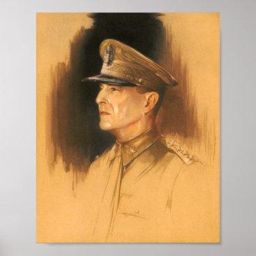 General Douglas MacArthur Sketch Poster