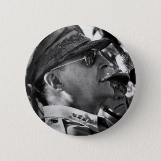 General Douglas MacArthur with Corncob Pipe Button
