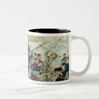 General Ducrot  at the Battle of Champigny Two-Tone Coffee Mug