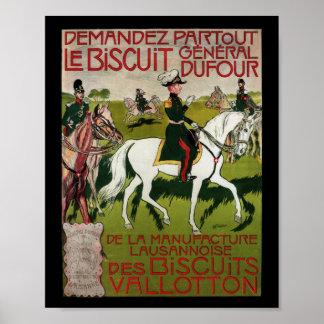 General Dufour Flour le Biscuit 1899 Póster