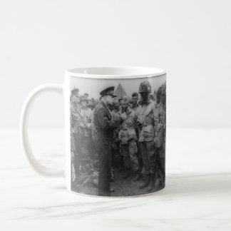 General Dwight D. Eisenhower with Paratroopers Classic White Coffee Mug
