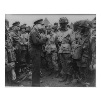 General Dwight D. Eisenhower with Paratroopers Posters