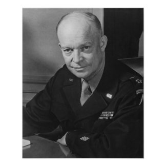 General Dwight Eisenhower -- WWII Poster
