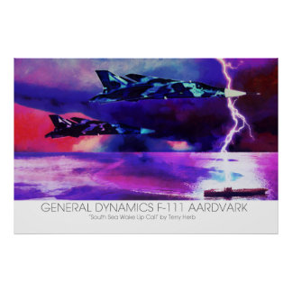 General dynamics F-111 Aardvark over the Pacific Poster