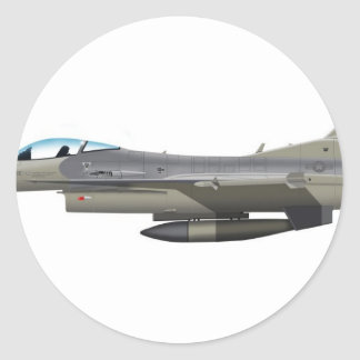 General Dynamics F-16D Falcon TX ANG Subdued 84254 Classic Round Sticker