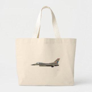 General Dynamics F-16D Fighting Falcon Tex ANG col Jumbo Tote Bag