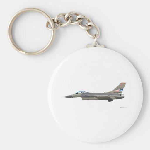 General Dynamics F-16D Fighting Falcon Tex ANG col Key Chains