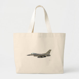 General Dynamics F-16D Fighting Falcon Tex ANG sub Jumbo Tote Bag