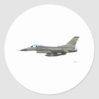 General Dynamics F-16D Fighting Falcon Tex ANG sub Classic Round Sticker