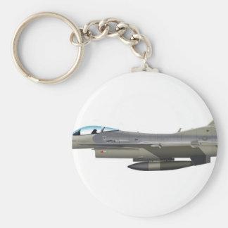 General Dynamics F-16D Fighting Falcon Tex ANG sub Keychain