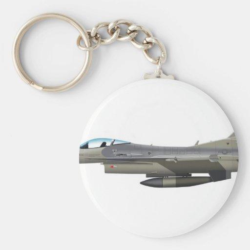 General Dynamics F-16D Fighting Falcon Tex ANG sub Key Chains