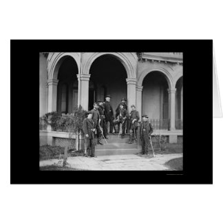 General Edwin Sumner & Staff in Warrenton, VA 1862 Greeting Cards