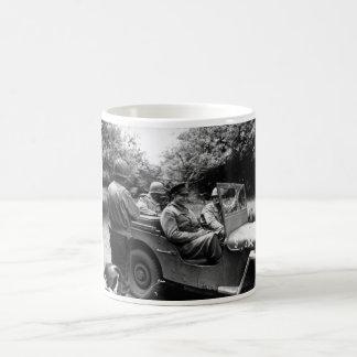 General Eisenhower In A Jeep -- WWII Coffee Mug