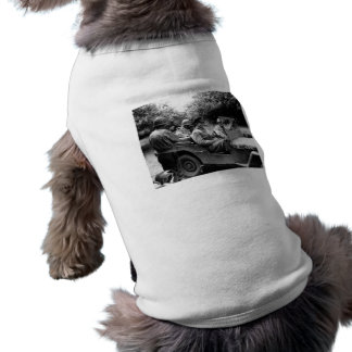 General Eisenhower In A Jeep -- WWII Doggie Tee