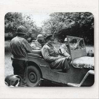 General Eisenhower In A Jeep -- WWII Mousepads