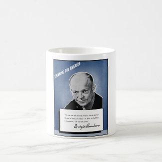 General Eisenhower Speaking For America Coffee Mug