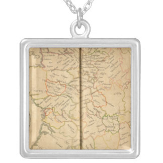 General Elections in France Square Pendant Necklace