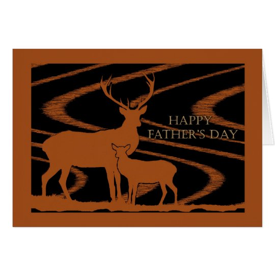 General Father's Day, Deer in Field Card