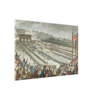 General Federation of French in Champs de Mars Canvas Print