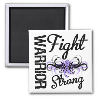 General fuerte Cancer de la lucha del guerrero Imán Cuadrado