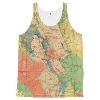 General Geological Map of Colorado All-Over-Print Tank Top