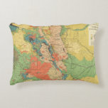 General Geological Map of Colorado Decorative Pillow