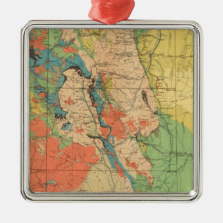 General Geological Map of Colorado Square Metal Christmas Ornament