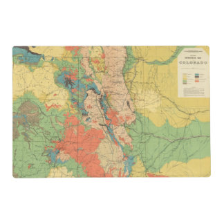 General Geological Map of Colorado Placemat