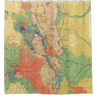 General Geological Map of Colorado Shower Curtain