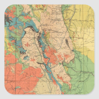 General Geological Map of Colorado Square Sticker