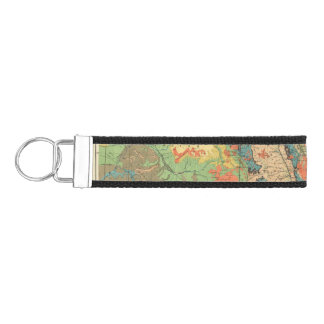 General Geological Map of Colorado Wrist Keychain