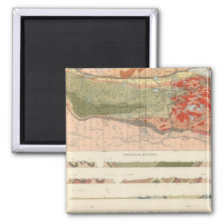 General Geological Map of the Marquette District 2 Inch Square Magnet