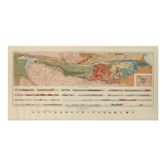 General Geological Map of the Marquette District Poster
