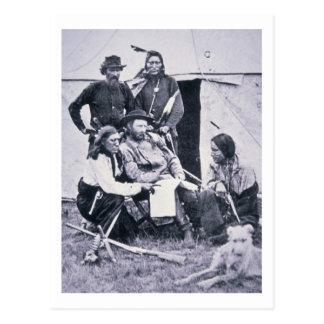 General George A. Custer (1839-76) con su indio Postales