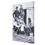 General George A. Custer (1839-76) with his Indian Canvas Print