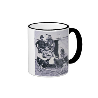 General George A. Custer (1839-76) with his Indian Ringer Mug