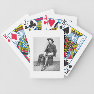 General George A. Custer (b/w photo) Bicycle Playing Cards
