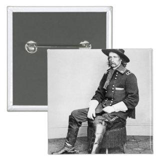 General George A. Custer (b/w photo) 2 Inch Square Button
