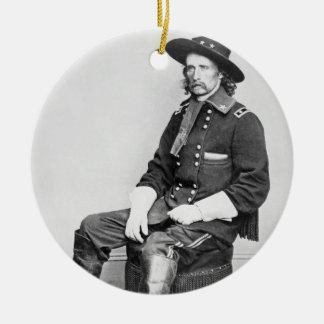 General George A. Custer (b/w photo) Ceramic Ornament