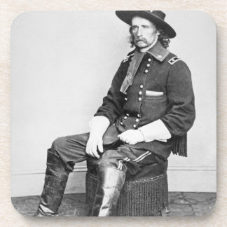 General George A. Custer (b/w photo) Drink Coaster