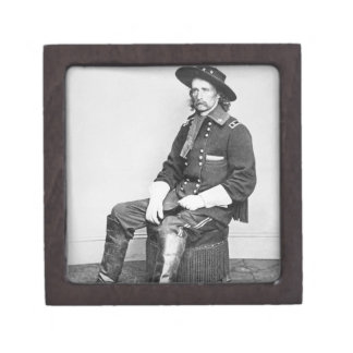 General George A. Custer (b/w photo) Gift Box