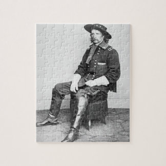 General George A. Custer (b/w photo) Jigsaw Puzzle