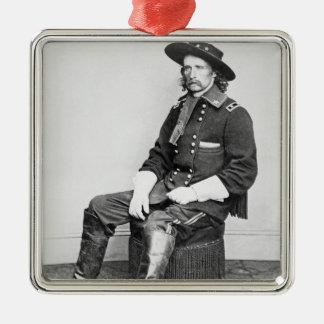 General George A. Custer (b/w photo) Metal Ornament