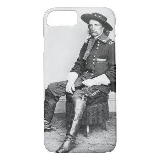 General George A. Custer (foto de b/w) Funda iPhone 7