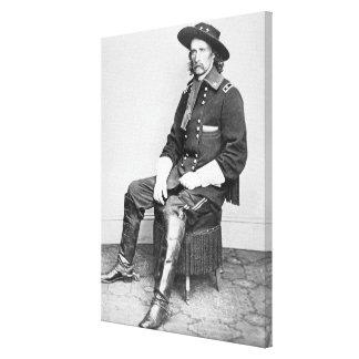 General George A. Custer (foto de b/w) Impresión En Tela