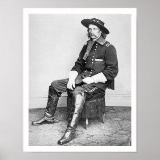 General George A. Custer (foto de b/w) Posters