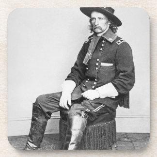 General George A Custer foto de b w Posavasos De Bebidas