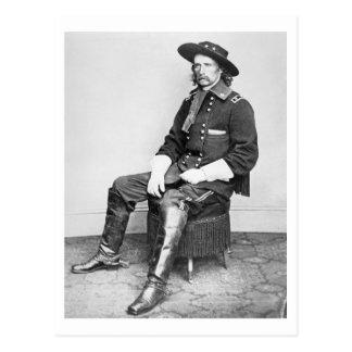 General George A. Custer (foto de b/w) Tarjetas Postales